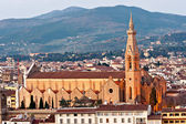 Florence, view of Santa croce church. Tuscany. — Stock Photo