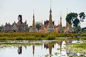 Buddhist temple in Inle lake, Myanmar. — Stock Photo