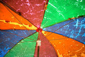 Old Rainbow umbrella. — Stock Photo