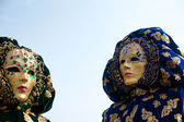 Venice Mask, Carnival. Focus on the right mask. — Stock Photo