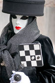 Maschera di venezia, carnevale. — Foto Stock