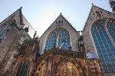 Church in the Red Light district, Amsterdam — Stock Photo