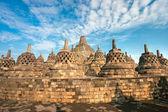 Borobudur Temple, Yogyakarta, Java, Indonesia. — Stok fotoğraf