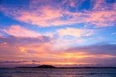 Sunset over Gili Trawangan, Indonesia. — Stock Photo