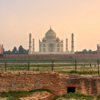 Stock Photo: Taj Mahal at sunset, Agra, Uttar Pradesh, India.