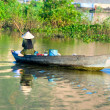 Fisherman in Kompong Thom, Cambodia. - Stock Photo