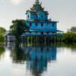 Typical house on the Tonle sap, Battambang, cambodia. - Stock Photo