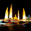 Stock Photo: Democracy monument at night, Bangkok, Thailand.