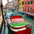 Venice, Canal and Boat. — Stock Photo