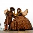 Two beautiful Carnival Masks, Venice. — Stock Photo