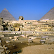 Foto Stock: Sphinx and Pyramids, Giza, Egypt.