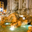 The Famous Trevi Fountain at night, rome, Italy. - Stock Photo