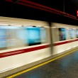 Stock Photo: Roma's subway, with moving train.