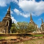 Wat Phra Si Sanphet, Ayutthaya, Thailand, — Stock Photo #13827450