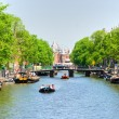 Amsterdam, Canal and bike. — Foto Stock