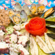 A dish of mix seafood — Stock Photo