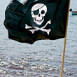 Pirate Flag in Elba Island. — Stock Photo #13827809