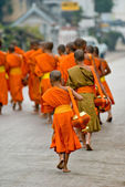 Monks in Luang Prabang, Laos. — Stock Photo