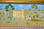 Painting inside a Buddhist temple in Luang Prabang, Laos. — Stock Photo