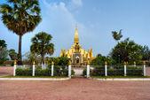 Pha That Luang, Laos. — Stock Photo