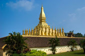 Pha That luang, Vientiaine, Laos. — Stock Photo