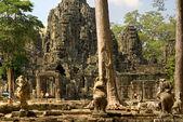 Bayon, angkor thom, kambodža. — Stock fotografie