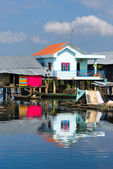 Modern and old House on the river, Cambodia. — Stock Photo