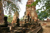 Ruined Old Temple of Ayuthaya, Thailand, — Stock Photo