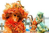 Venedig masken, karneval. — Stockfoto