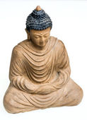 Close-up picture of a Buddha Bronze statue. — Stock Photo