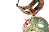 Máscara de venecia, aislada en blanco. — Foto de Stock