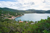 View of the Bay of Biodola, Portoferraio, Elba Island. — Foto de Stock