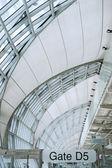 Modern Airport interior, Suvarnabhumi International Airport, ban — Stock Photo