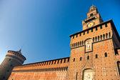 在米兰,意大利的斯福尔扎的城堡. — 图库照片