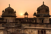 Orcha Palace at sunset, India. — Stock Photo