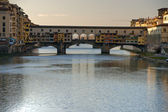 Panoramic view of Florence and ponte vecchio. — Stock Photo
