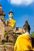 Geruïneerd oude tempel van ayutthaya, thailand, — Stockfoto