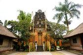 Balinese Temple entrance in Ubud, Bali, Indonesia. Isolated on w — Stock Photo
