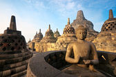 Borobudur Temple at sunrise, Yogyakarta, Java, Indonesia. — Stock Photo