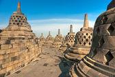 Borobudur chrám, yogyakarta, java, Indonésie. — Stock fotografie