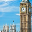 The Big Ben, the House of Parliament and the Westminster Bridge - ストック写真