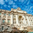 The Famous Trevi Fountain , rome, Italy. — Stock Photo