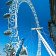 Stock Photo: LONDON - MARCH 19 : The London Eye, erected in 1999, is a giant