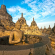 Borobudur Temple, Yogyakarta, Java, Indonesia. — Stock Photo