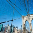 Manhattan bridge, New York City. USA. — Stock Photo