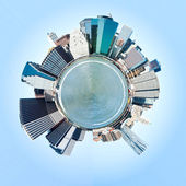 Planet Manhattan, New York City. USA. Miniature planet of Manhat — Stock Photo