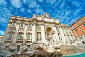The Famous Trevi Fountain , rome, Italy. — Stock Photo