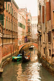 Grand Canal at sunset, Venice, Italy. — Stock Photo