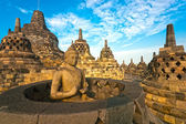 Java borobudur temple, yogyakarta, indonesia. — Foto de Stock