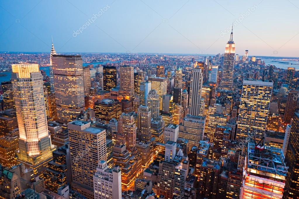 Aerial view of Manhattan, New York City. USA. — Stock Photo #14768811